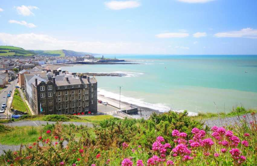 Aberystwyth is the principal holiday resort of the west coast of Wales