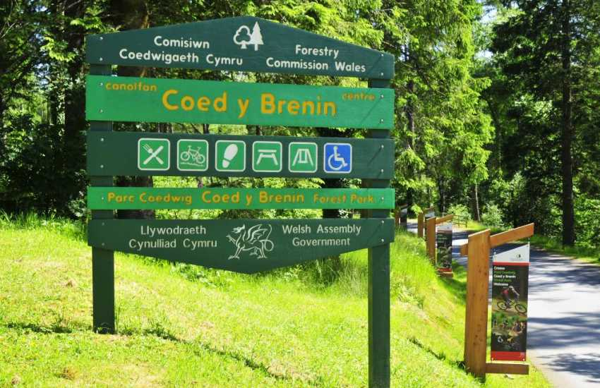 Coed y Brennin - a cyclists and walkers paradise, internationally famous for it's mountain bike trails