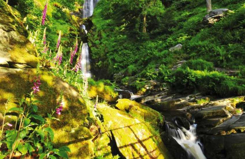Pistyll Rhaeadr- the highest waterfall in Wales