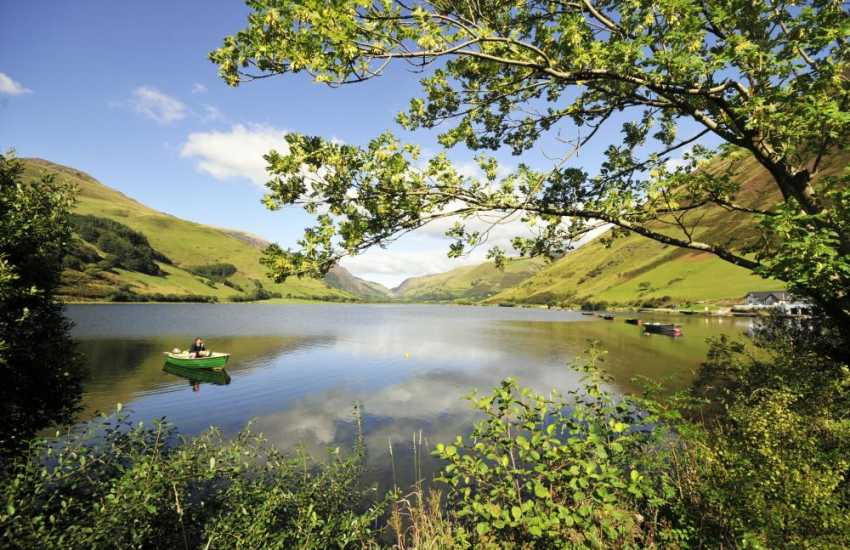 Spend a day exploring Talyllyn lake in a boat or on foot
