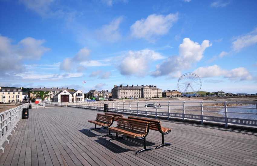 Beaumaris pier, for boat trips up and down the Menai Straits or to Puffin Island