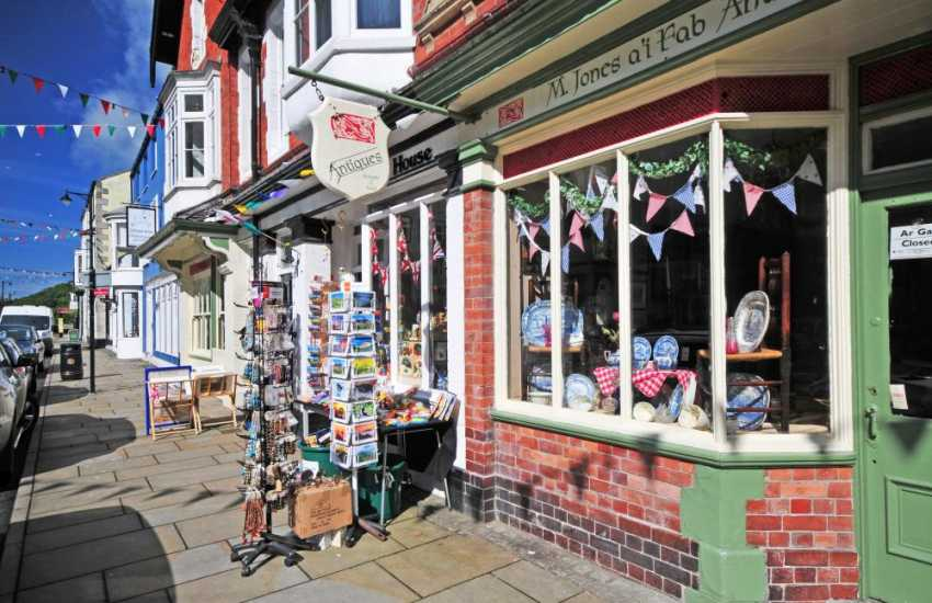 Beaumaris town centre, with its castle, lovely shops, local butcher, baker and cafes'