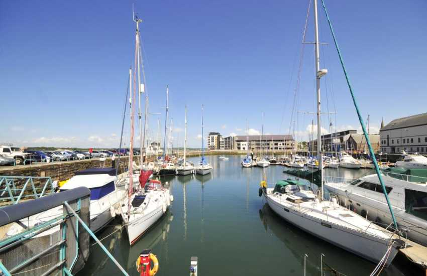 Victoria Dock in Caernarfon. Set alongside the beautiful harbour, looking out over the scenic Menai Straits to the Isle of Anglesey