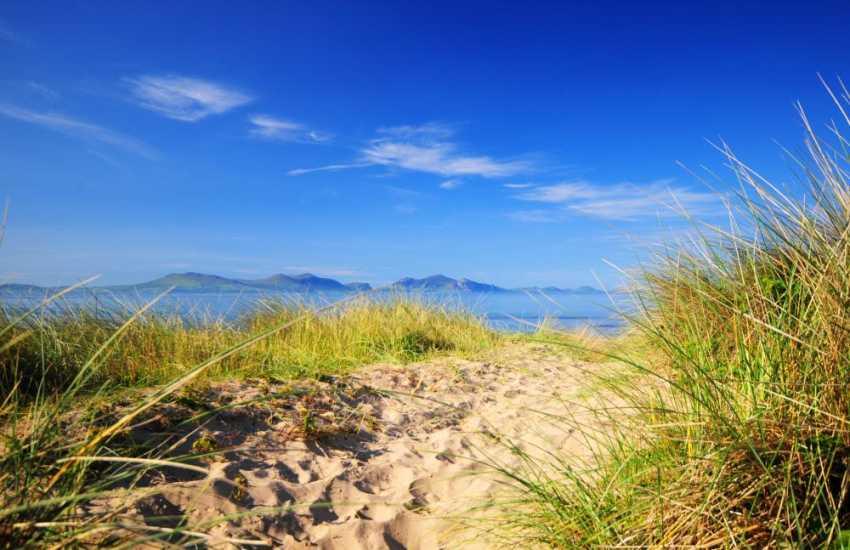 Sand dunes at Newborough Beach