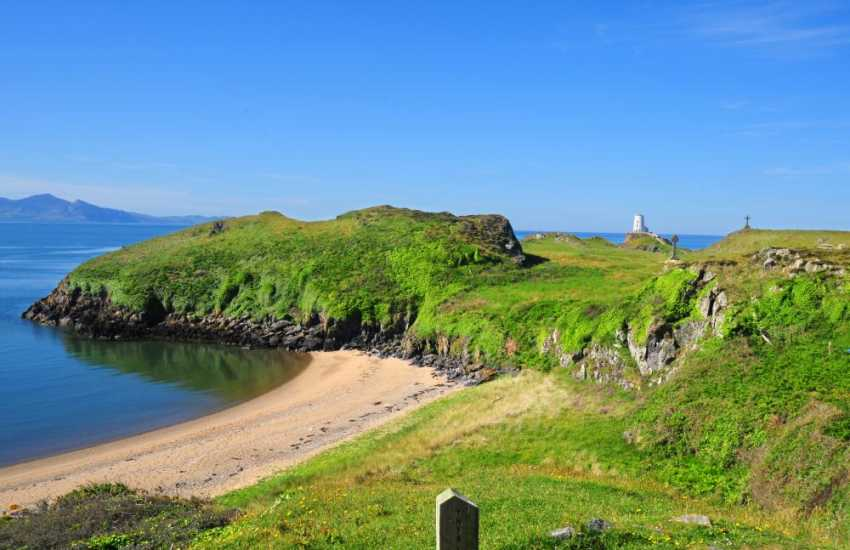 Hidden bays on Llanddwyn Island. You can get here by walking from Newborough Warren beach, on the south coast of Anglesey