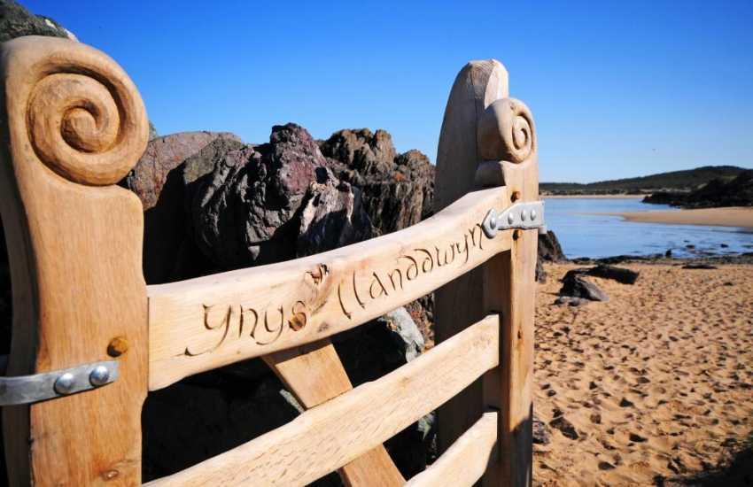 Newborough Warren beach and Llanddwyn Island on the south coast of Anglesey