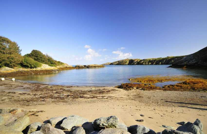 Porth Eilian, one of Anglesey's prettiest bays with its sandy beach and clear waters
