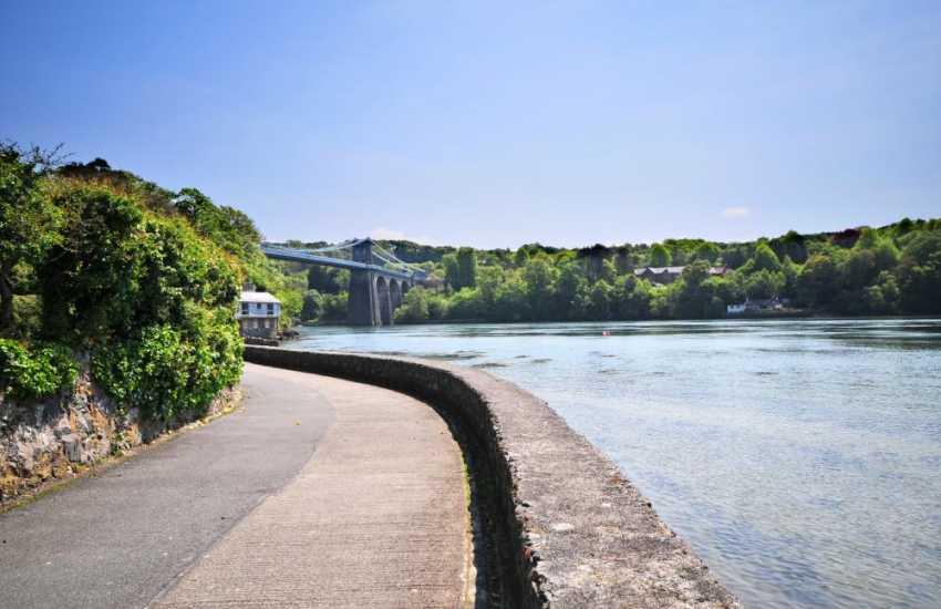 Menai Bridge, walks along the waters edge