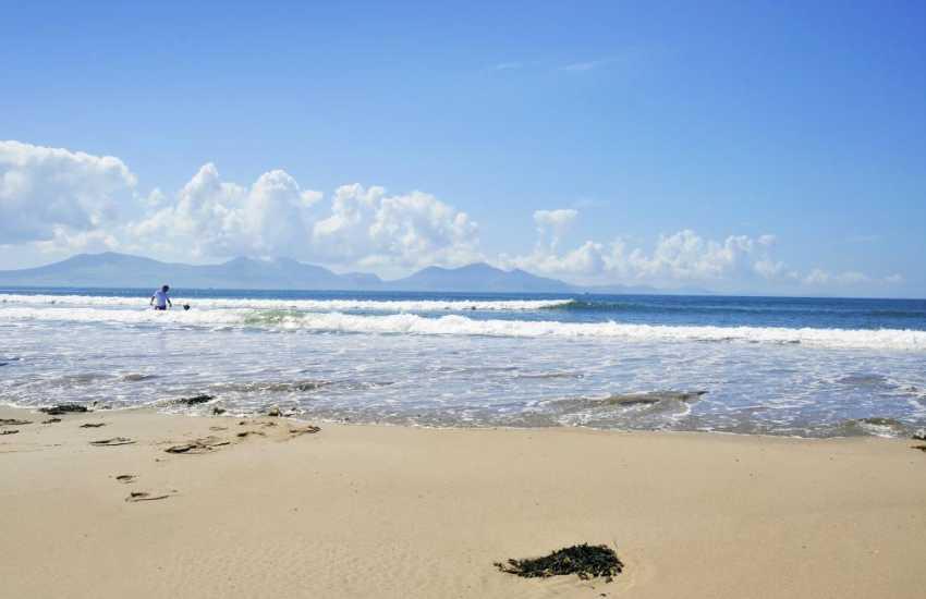 The beautiful beach at Newborough, Anglesey Island.