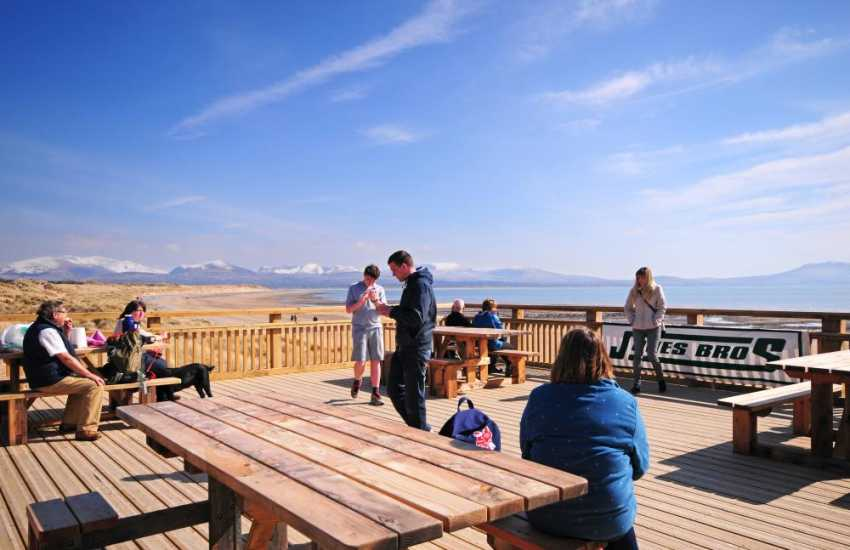 Newborough Warren beach - with picnic area and boardwalks through the forest that backs the beach