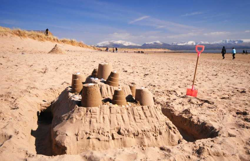 Plenty of room for sandcastle competitions on Newborough Beach