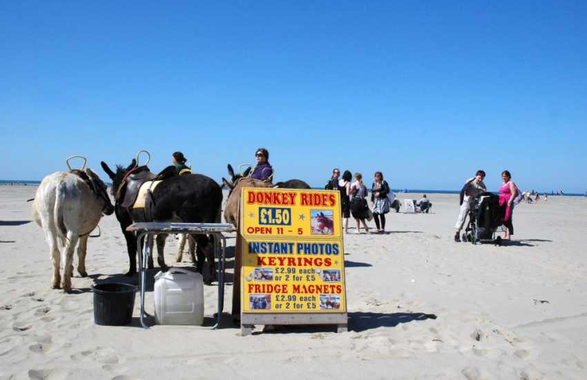 Donkey rides and old-fashioned fun on the sandy Barmouth beaches