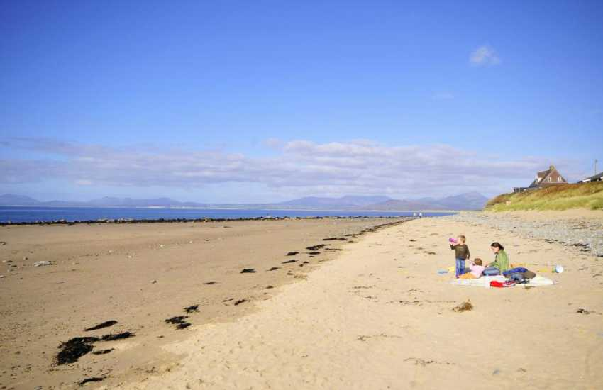Llandanwg and Harlech beaches are both lovely stretches of clean, white sand