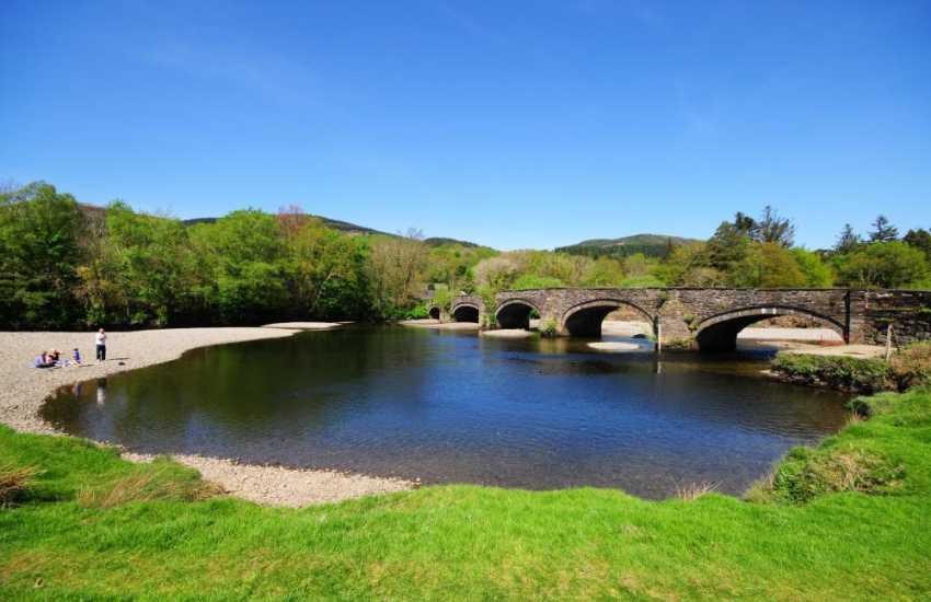 Bridge over the River Mawddach at Llanelltyd
