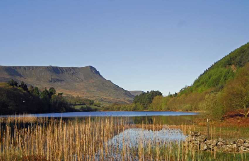 Just 2 miles outside Dolgellau is Gwernan Lake, a magnificent 12 acre lake at the foot of Cader Idris. This area is ideal for fishing, mountain biking, walking, bird-watching and pony riding - and cream teas are available from the hotel of the same name