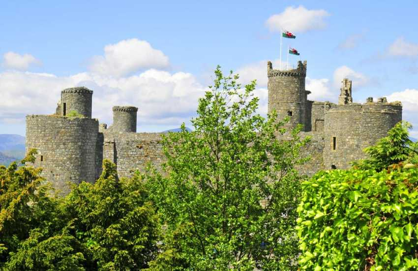 Harlech Castle, open all year round