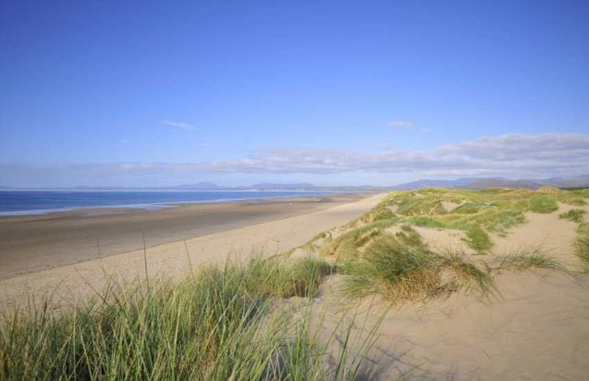 Harlech Beach miles of sandy beach and dunes