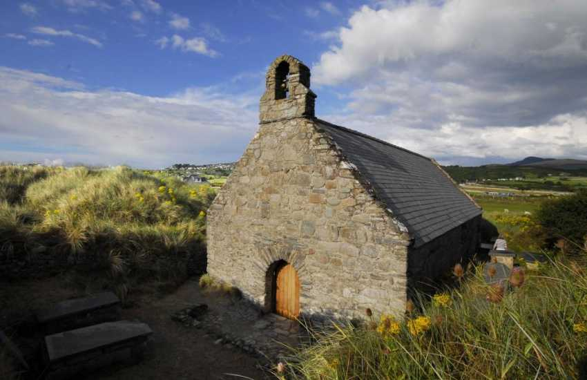 A small chapel on the beach at Llandanwg near Harlech.