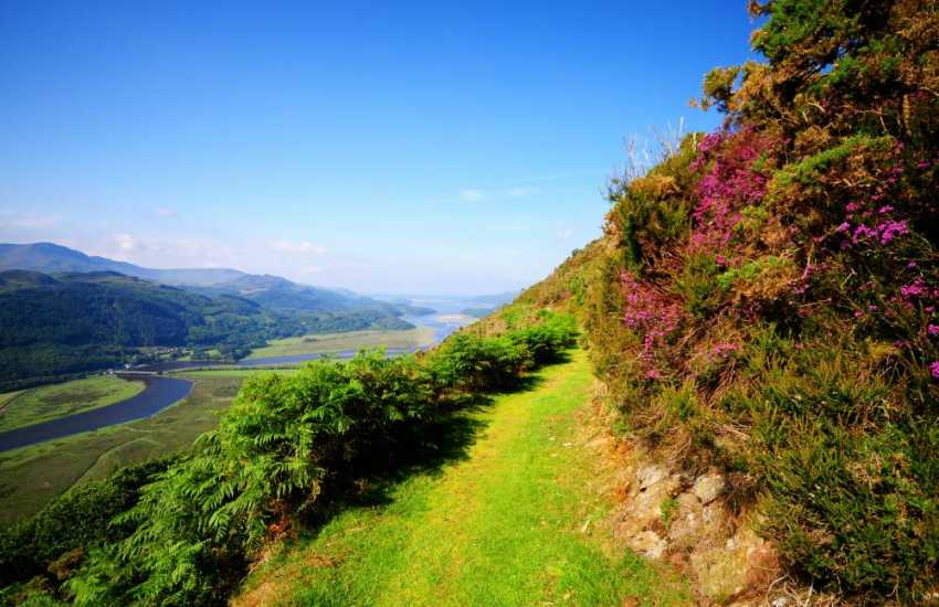 The Mawddach estuary and precipice walk is less than half an hour away by car