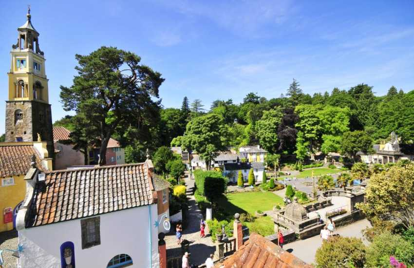 Portmeirion Italianate village is a wonderful place to visit, full of surprises and interesting architecture