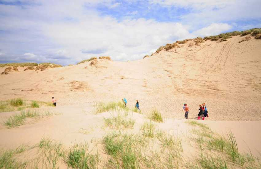 The incredible sand dunes at Shall Island