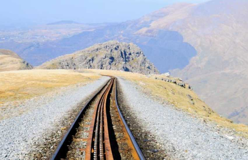 Follow the tracks of the Snowdon Mountain Railway all the way to the summit
