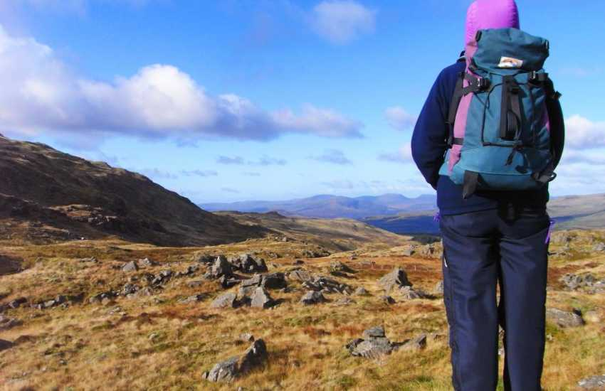 Walking in the rugged landscape of Rhinog Fawr & Rhinog Fach