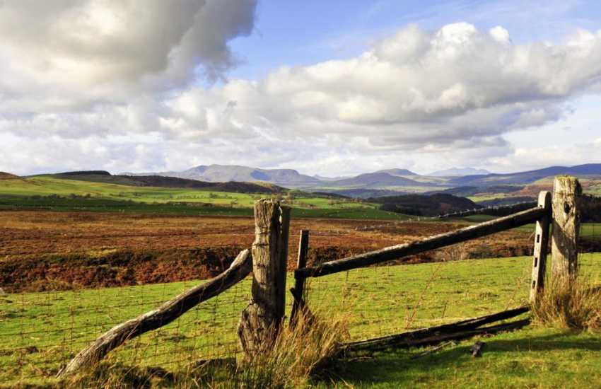 Views of Snowdonia from the top of the Berwyn Mountains
