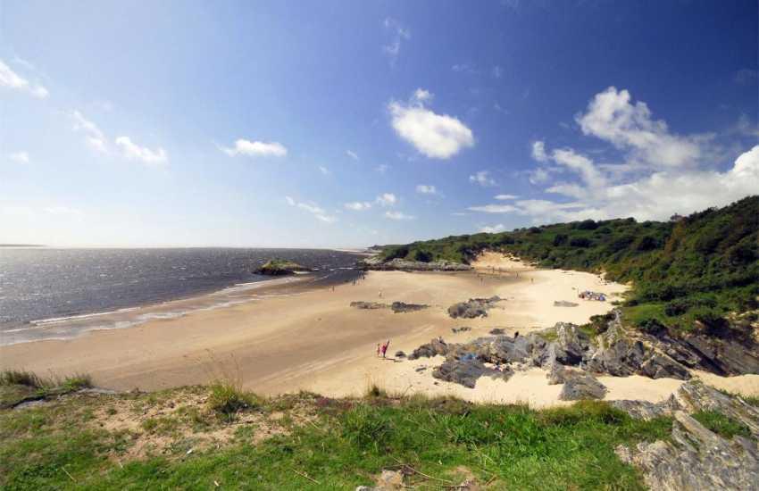 Superb beaches along the Lleyn Peninsula coast, such as this jewel of a beach at Borth y Gest