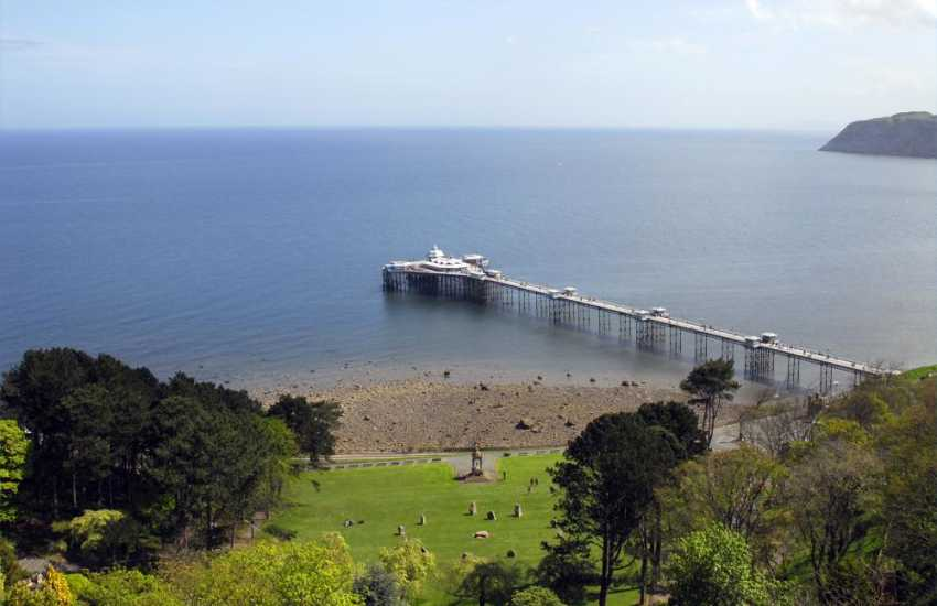 The pier viewed from the cable car in Llandudno