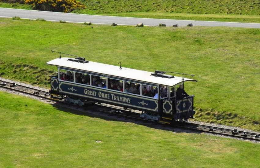 Great Orme Country Park and Nature Reserve with the unique Great Orme Tramway journey beginning at Victoria Station