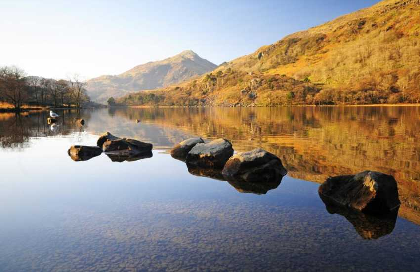 Llyn Gwynant, one of North Wales' lakes