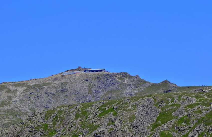 Snowdon and the newly built cafe Hafod Eryri