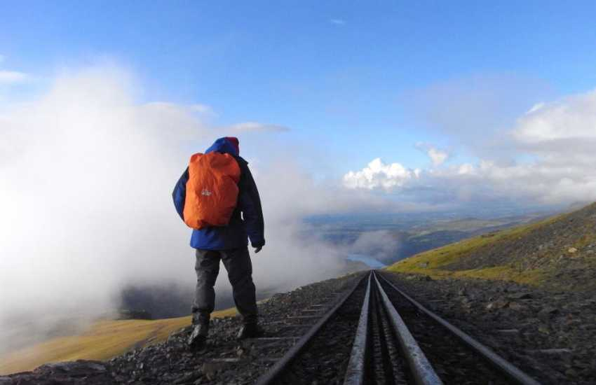 Climb the heights of Snowdon - on foot or by train