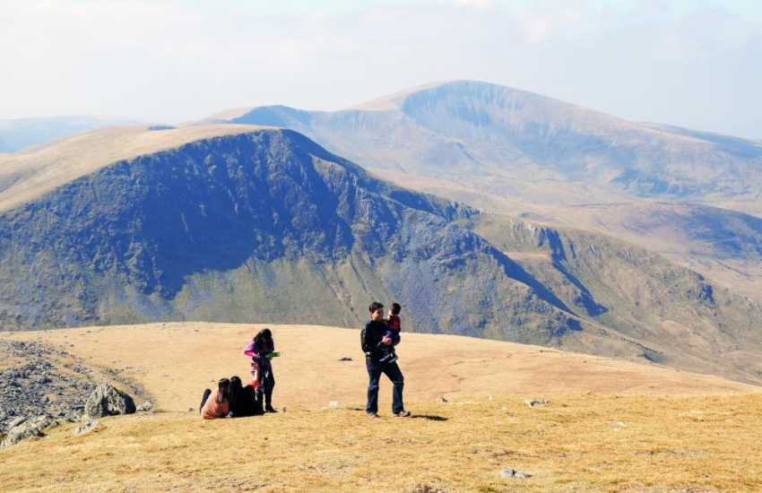 Enjoy a family walk after leaving the train close to Snowdon's summit
