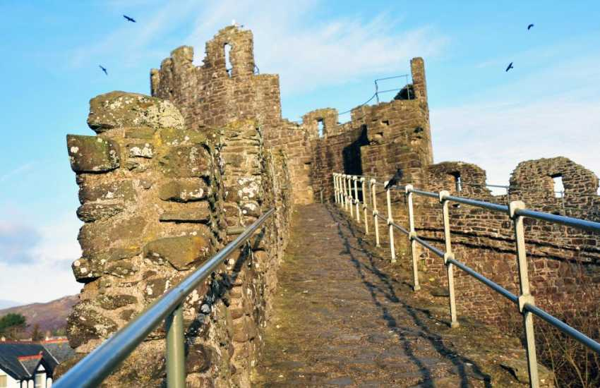Conwy medieval walled town, walk the walls for the most incredible views of the castle with its stunning mountainous backdrop