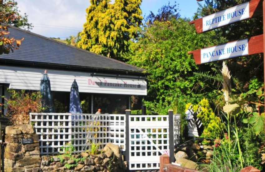 The excellent Dutch Pancake House and much more at Conwy Water Gardens