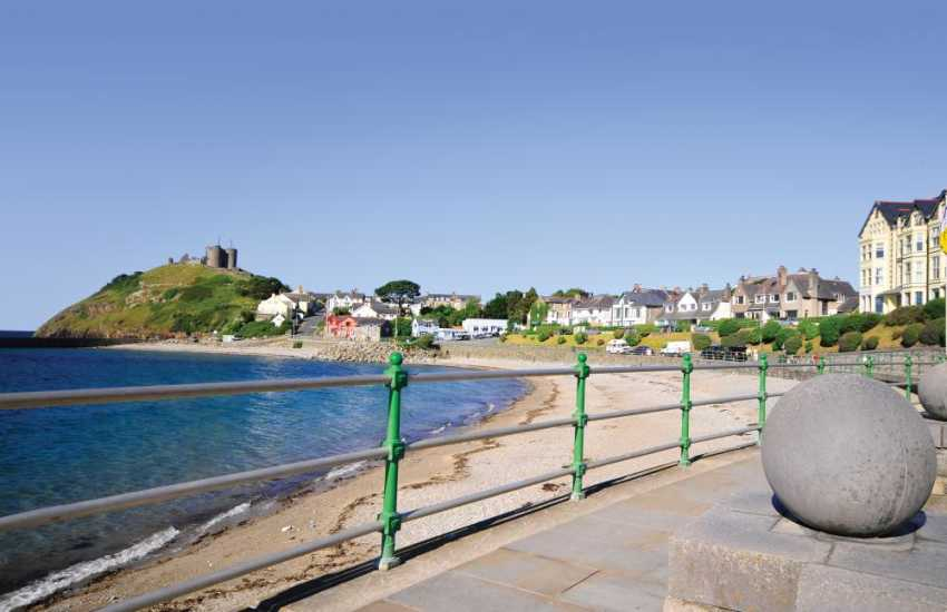 Criccieth beach and promenade
