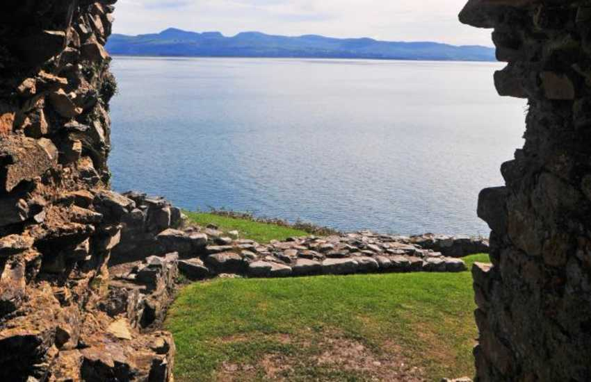 Criccieth Castle with views of Snowdonia and the Cardigan bay coastline