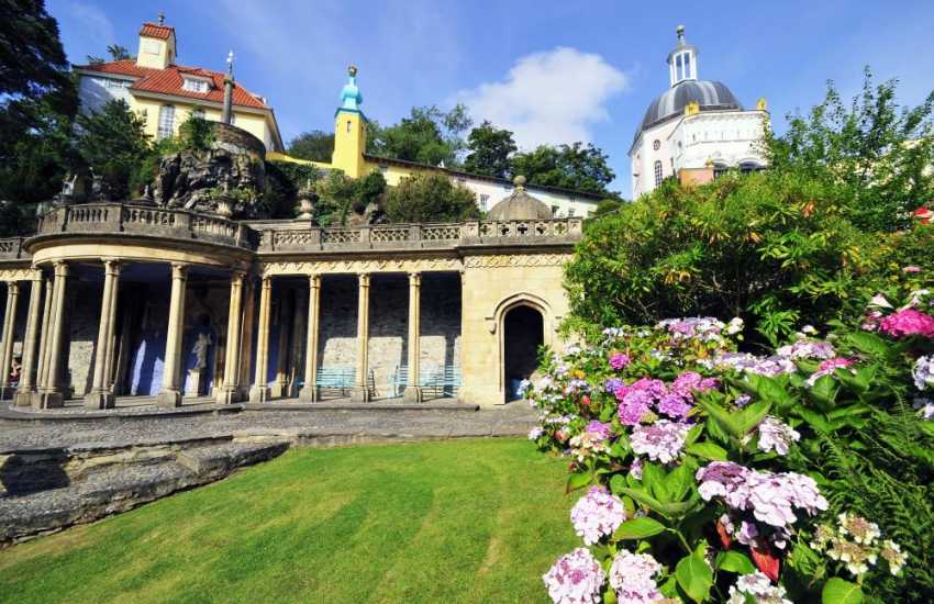 Portmeirion village, take the whole day to explore