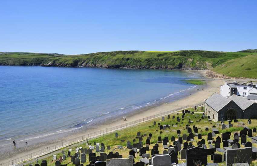 Aberdaron village at the very tip of the Lleyn Peninsula, from here take a trip to Bardsey Island for the day
