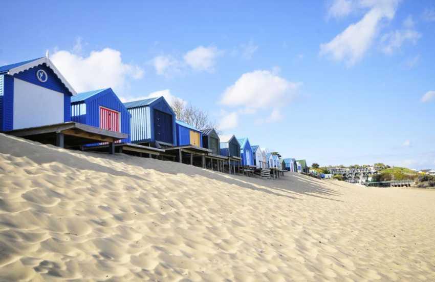 The long sandy beach at Abersoch