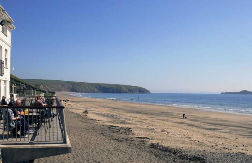 Enjoy some refreshment overlooking the beach at in the nearby village of Aberdaron