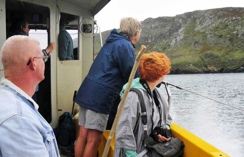 Take a boat trip - Bottlenose, Common and Risso's dolphin have all been sighted in this area. Also fishing trips are available
