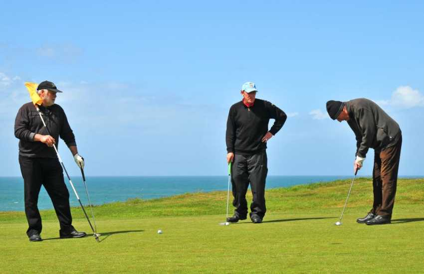 Golf course at Morfa Nefyn, with fabulous views