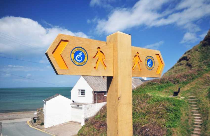 Walking the Lleyn Peninsula Coastal Path, glorious coastal scenery in either direction from Morfa Nefyn