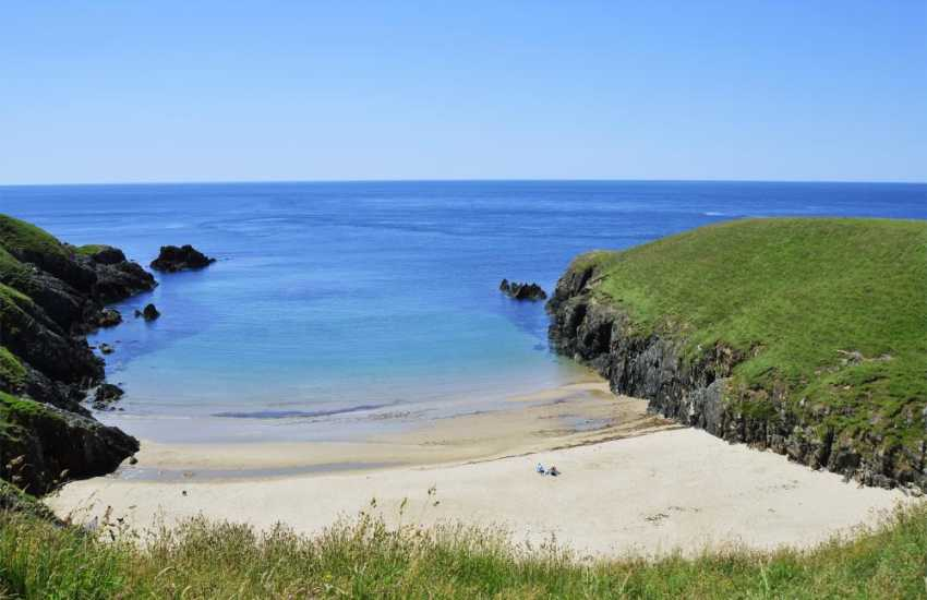 The small beach at Porth Iago is  one of the hidden treasures of the Lleyn Peninsula