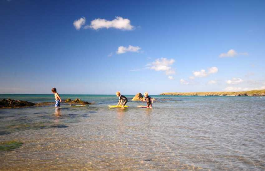 Clear, safe waters for the children to play in on this fabulous part of the Welsh coast
