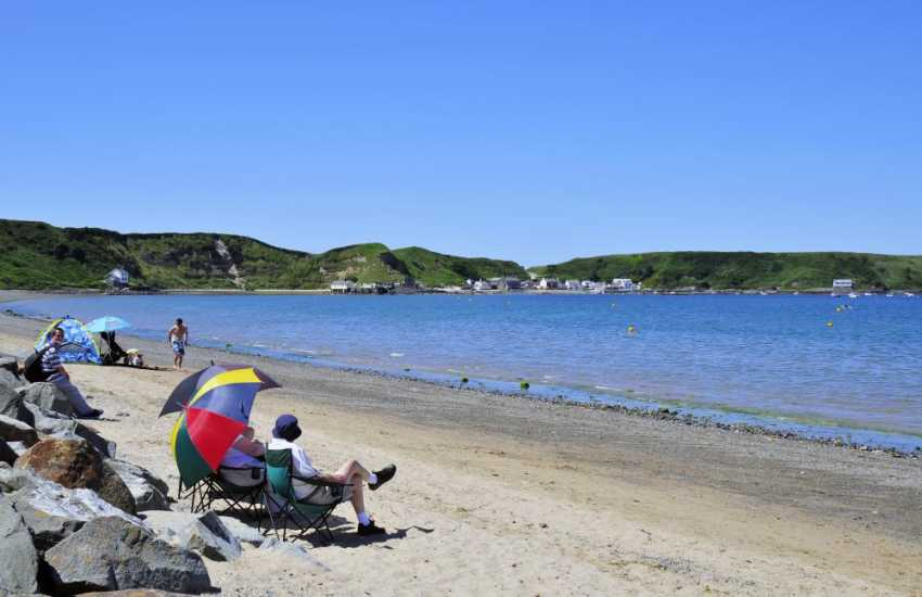 Relaxing on Morfa Nefyn beach