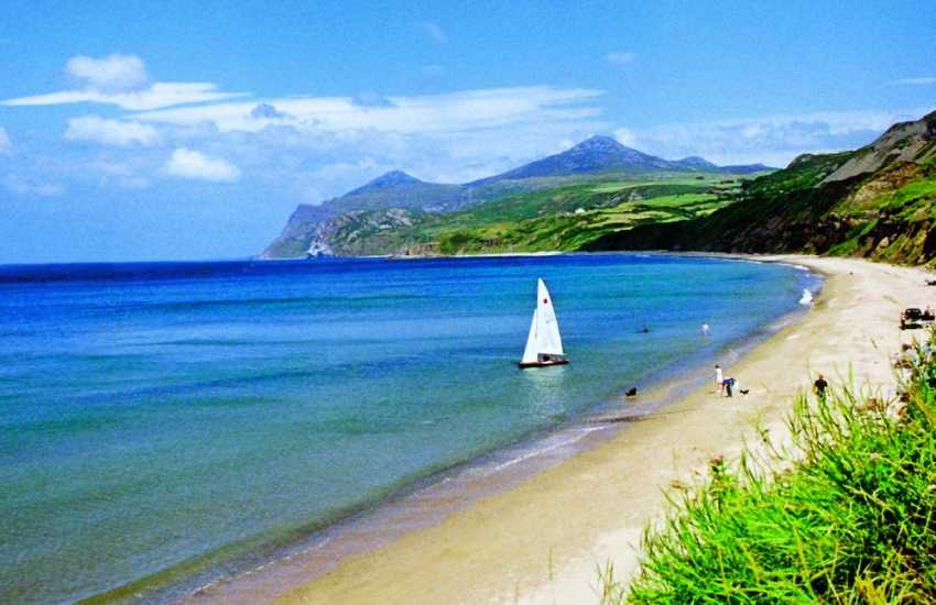 Beautiful sandy beach at Morfa Nefyn